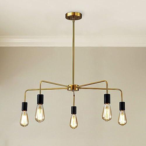 Saint Mossi Chandeliers 5 Lights Modern Pendant Lighting Vintage Ceiling Light Fixture