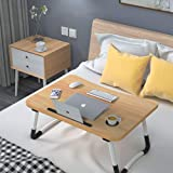 Laptop Desk Bed Table Tray, Lap Desk Bed Table for Breakfast Serving Tray, Notebook Table with Tablet Slots and Cup…