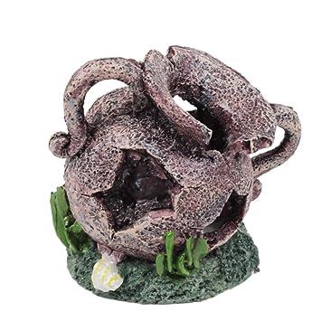 dragonaur - Jarrón de Fondo Roto para pecera, Acuario, Decorativo ...