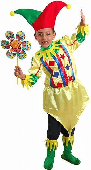 Disfraz de bufón para niño - De 2 a 4 años: Amazon.es: Juguetes y ...
