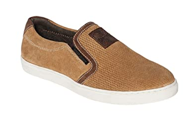 West Coast Choppers Shoes Outlaw Suede Slip-Ons Brown, Farbe:Brown, Größe:46