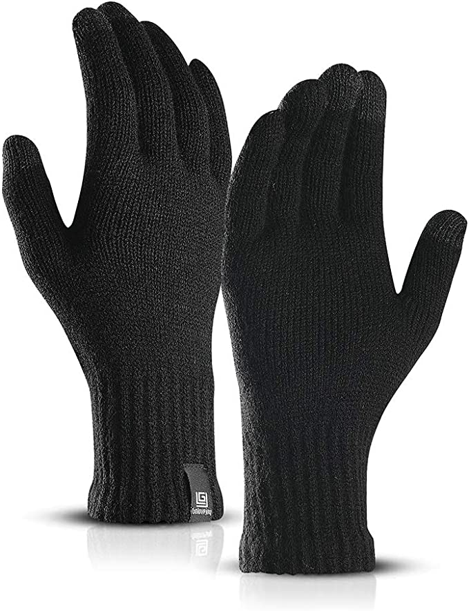 Thick Warm Touchscreen Texting Gloves Anti-Slip by Maylisacc 1//2 Pairs Winter Mens Knit Gloves with Touch Screen
