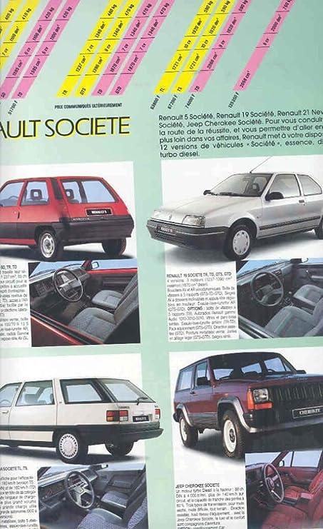 Amazon.com: 1989 Renault Pickup Truck Van Camper Prestige Brochure: Entertainment Collectibles