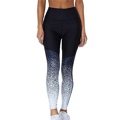 Yying Femme Sport Leggings actif Fitness Running Yoga Pantalon Mode Pente  Taille Haute Gym Leggings Étendue 3d97a11e3a2