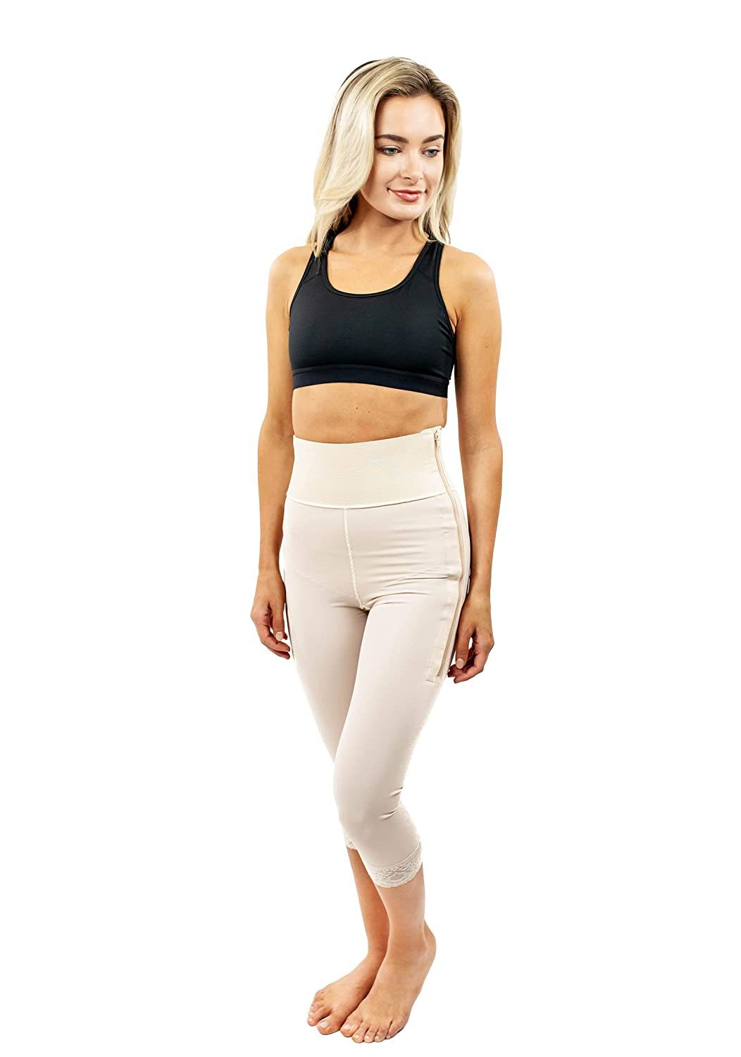230d1aae6 ContourMD Post Surgery Compression Shorts Mid Calf High Waisted 4