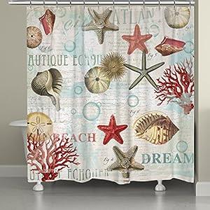 61EbVDqqBhL._SS300_ 200+ Beach Shower Curtains and Nautical Shower Curtains