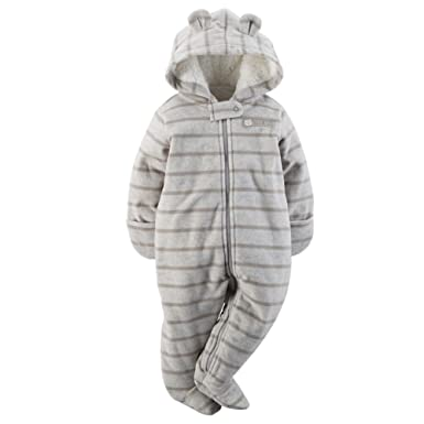 0bd40d8b0 Amazon.com  Carter s Baby Boys  Hooded Fleece Sherpa Bunting  Clothing