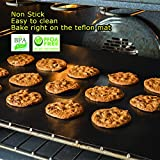 """2 Pack Large Thick Heavy Duty Teflon Oven Liners Mat, 17""""x 25"""" BPA and PFOA Free, FDA Approved for Electric Gas Microwave Ovens Charcoal or Gas Grills"""