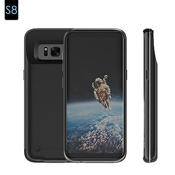 Funda Batería Samsung S8, Moonmini Ultra Slim 4200 Batería Externa Recargable Portátil Power Bank Backup Cargador Funda Protectora Carcasa para ...