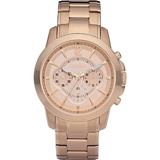 febc5d96ceed Fósiles de los hombres oro IP Cronógrafo reloj - fs4635  Amazon.es  Relojes