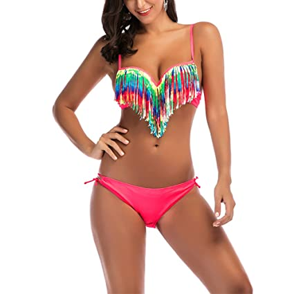 bcd9edc8c Image Unavailable. Image not available for. Color  Sexy Bikini with  Tassels