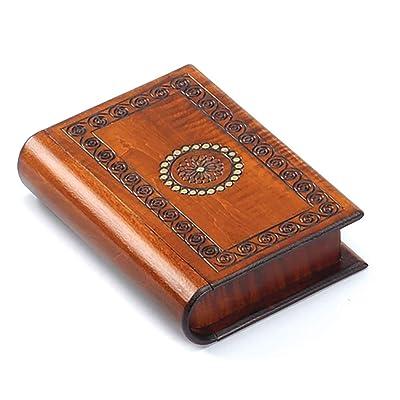Book Style Wood Puzzle Box Polish Handmade Secret Trick Wooden Box Jewelry Box: Home & Kitchen