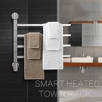 HDLWIS Calentador de Toallas termostático eléctrica eléctrico Calentador de Toallas Panel Blanco radiador de baño,B: Amazon.es: Hogar