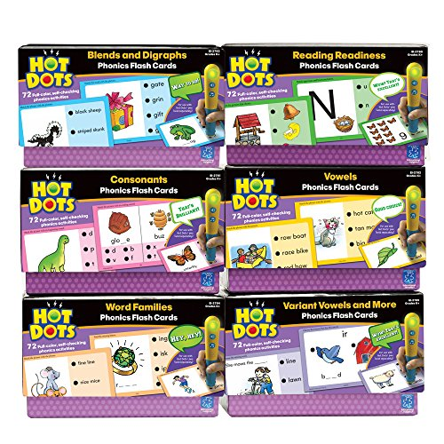 Educational Insights Hot Dots Phonics Flash Cards, Complete Program by Educational Insights
