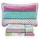 Brandream Kids Bird Butterfly Comforter Set Girls Patchwork Quilt Twin Size 2PCS