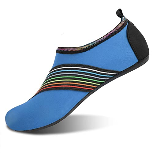 Men Women Aqua Skin Shoes Beach Water Socks Yoga Swim Slip On Black EU 39