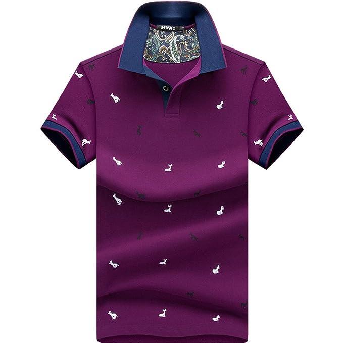 Camisa De Polo Clásica Delgada para Hombre Camisas De Polo Pique ...
