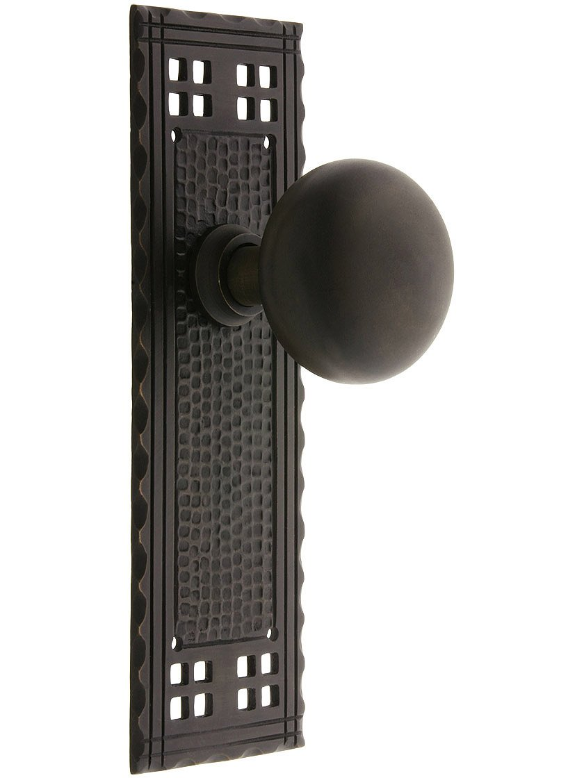 Pair Of Craftsman Door Knobs With Oil Rubbed Bronze Finish   Doorknobs    Amazon.com