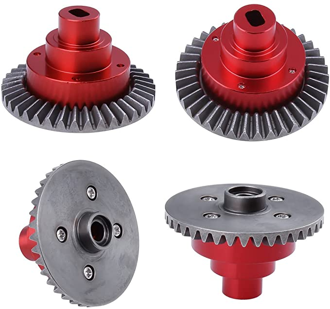 w//Gear Aluminum Connect Box 38T for Everest Gen7 PRO//10 Redcat Racing Diff