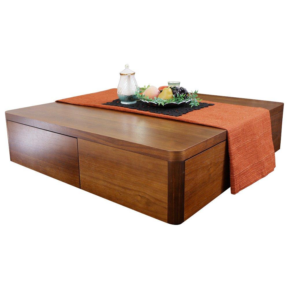 LOWYA (ロウヤ) テーブル ローテーブル 天然木ウォールナット製 ブラウン おしゃれ 新生活 B00JO5YUMG