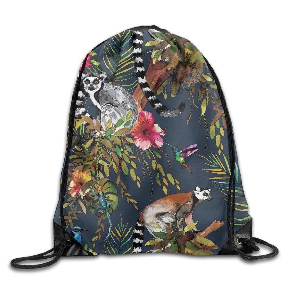 Pretty Drawstring Backpack Rucksack Shoulder Bags Training Gym Sack For Man And Women