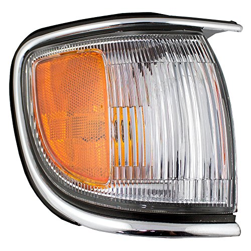 Passengers Front Park Signal Side Marker Light Lamp Lens with Chrome Trim Fender Mounted Replacement for Nissan SUV 261100W025 AutoAndArt