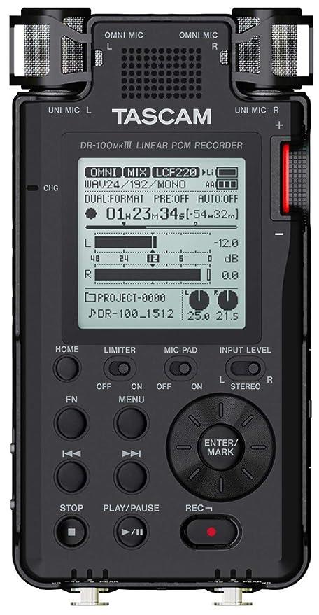 TASCAM DR-100mkIII - Grabador digital de mano: Amazon.es: Instrumentos musicales