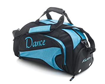 2432b6dfad24 Image Unavailable. Image not available for. Colour  Katz Dancewear Girls  Ladies Sparkly Sky Blue Dance Ballet Tap Kit Holdall Sports Bag KB89