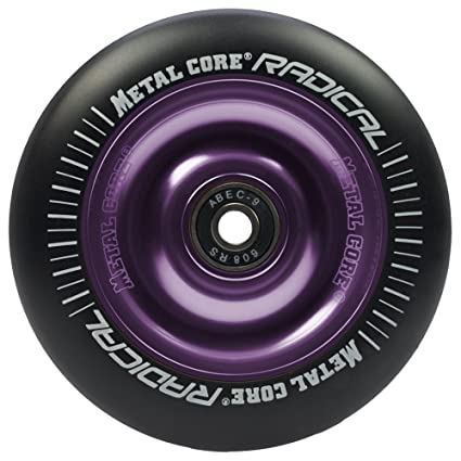 Metal Core Rueda Radical Black para Scooter Freestyle, Diámetro 100 mm