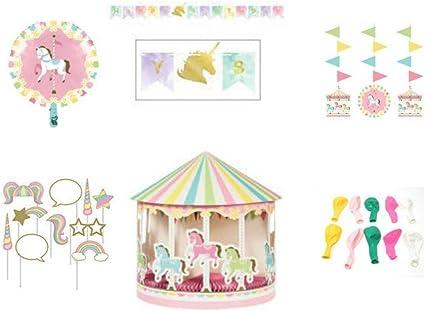 """36/"""" WALKING Unicorn Centerpiece BALLOON balloons BIRTHDAY PARTY SUPPLY"""