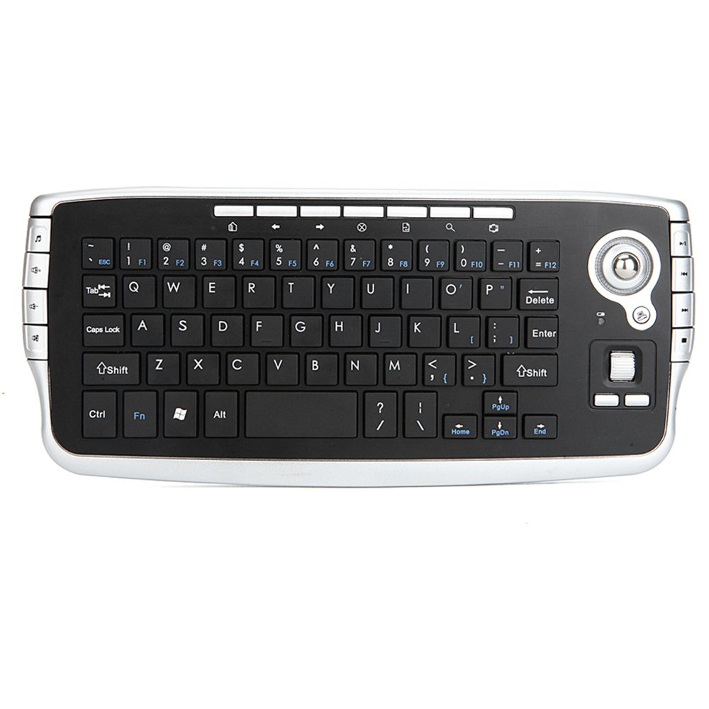1843ac4ab24 Amazon.com: Wireless Keyboard with Trackball Mouse Scroll Wheel Remote  Control for Android TV BOX/Smart TV/PC/Notebook,E30 2.4GHz,Silver: Computers  & ...