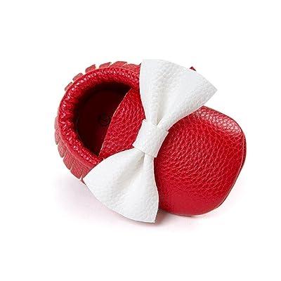 Clode® , Chaussures premiers pas pour bébé (fille) Bleu rouge 0-6 mois
