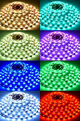 LED Strip Light, Lahoku 5050 SMD RGB Multi-color Changing Tape Light for Kitchen, Cabinet, Bedroom, Home Decoration