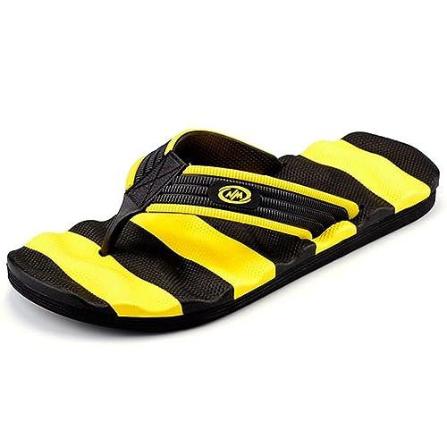 c830ab81d4351 Muryobao Flip Flops for Men The Best Non Slip Summer Beach Big Man Slippers  Large Size