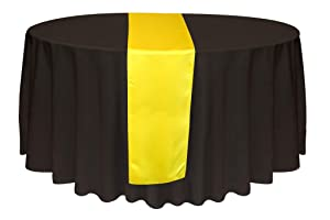 KING 10 Satin 12 x 108 inch Table Runner Banquet Wedding Party & Event -Yellow