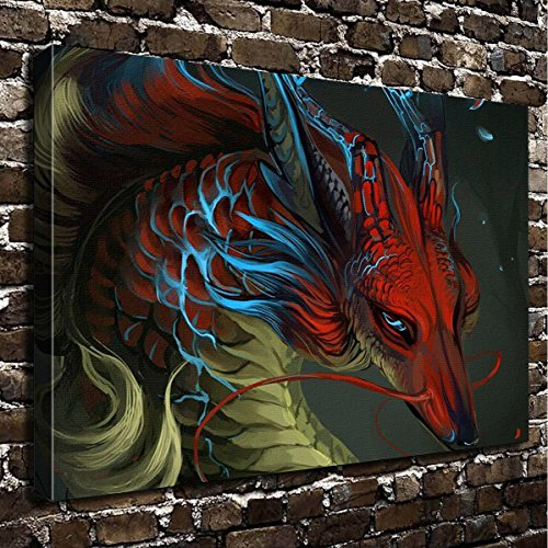Wall Art Painting Dragon Prints On Canvas