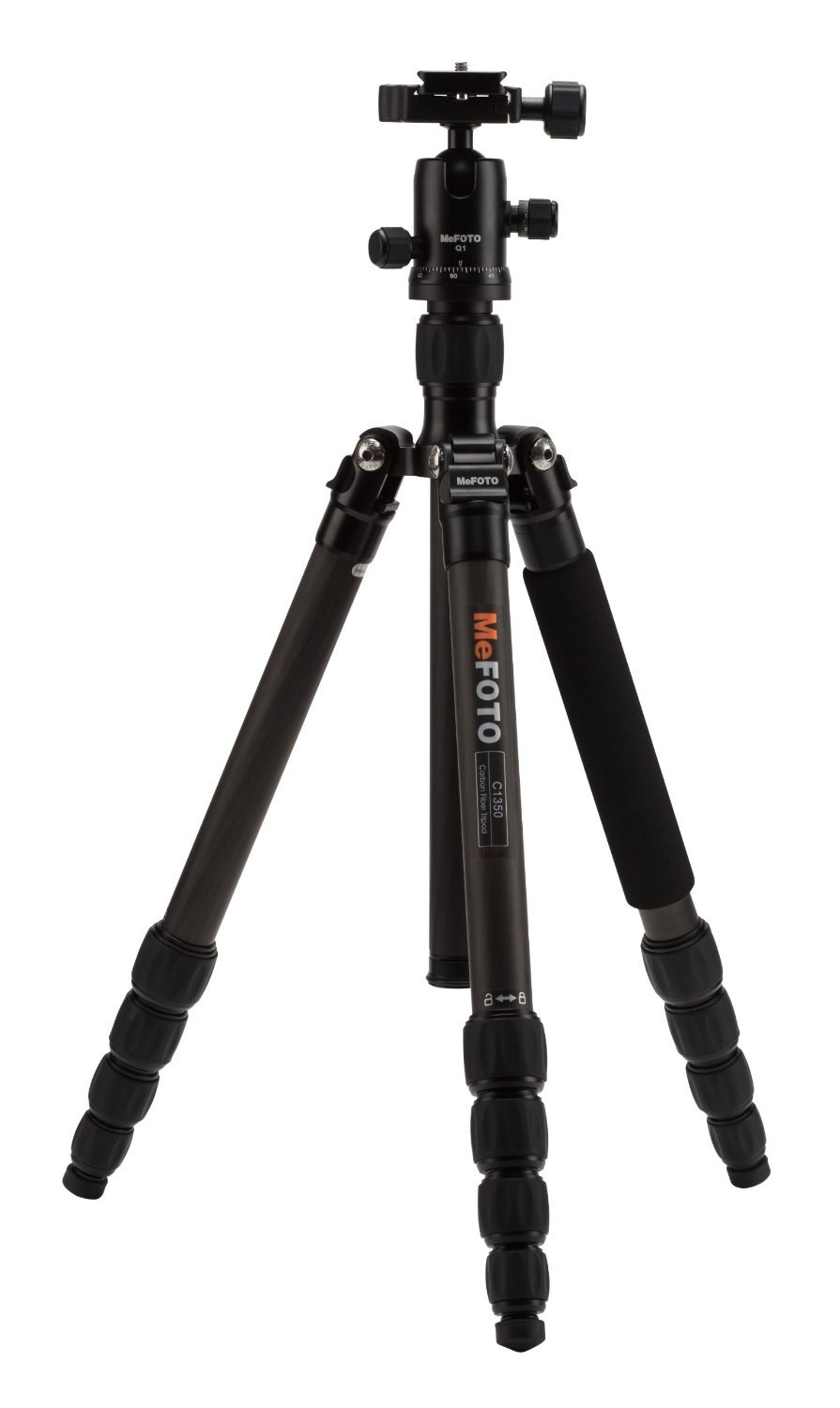MeFOTO C1350Q1K Carbon Fiber Roadtrip Travel Tripod Kit (Black) [並行輸入品]   B019SZ4FJO
