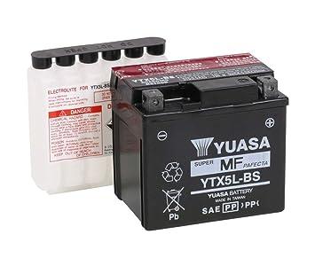 Batería Yuasa YTX5L-BS para KTM EXC-SXF-MXC-250-350-400-450 505 525 SX XC ATC-50/90 MONGOOSE: Amazon.es: Coche y moto