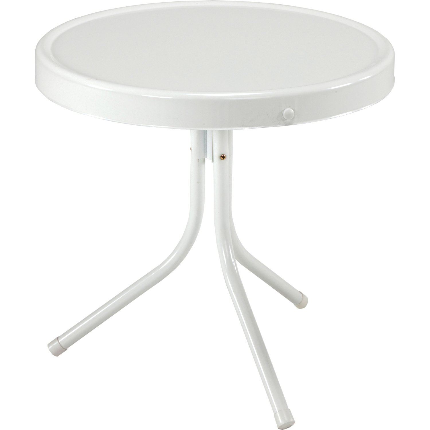 Jack Post BH-2W Retro Table, 20-1/2 by 20-Inch, White