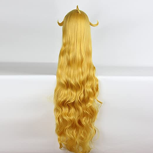 Amazon.com: springcos Fairy Tail Wig Cosplay Mavis Vermilion Golden Long Wigs: Beauty