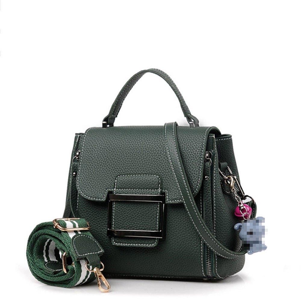 Handbag, Women'S Bag, Fashion Satchel, Wide Shoulder Strap, Shoulder Bag,Green,20X19X10.5Cm