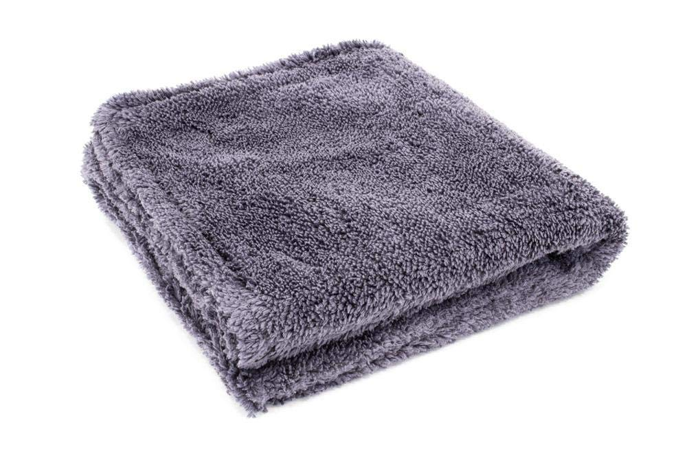 Double Pile Microfiber Detailing Towel - 3 Pack Blue Gray 16 in. x 16 in, 600 GSM Royal Plush