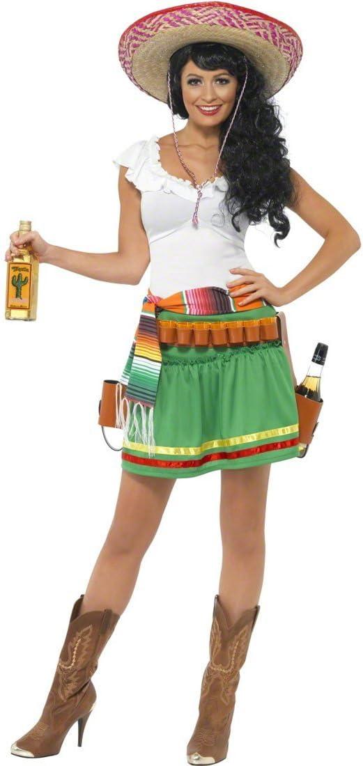NET TOYS Traje de Mujer Mexicana Disfraz México Vestuario: Amazon ...