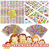 #7: 1700+ Stickers, Teacher Stickers for Kids, Reward Stickers Variety Pack, 3D Puffy Stickers, Scrapbooking, Bullet Journals, Stickers for Adult, 32 Design Styles Including 3D Heart, Face, Star, Fish