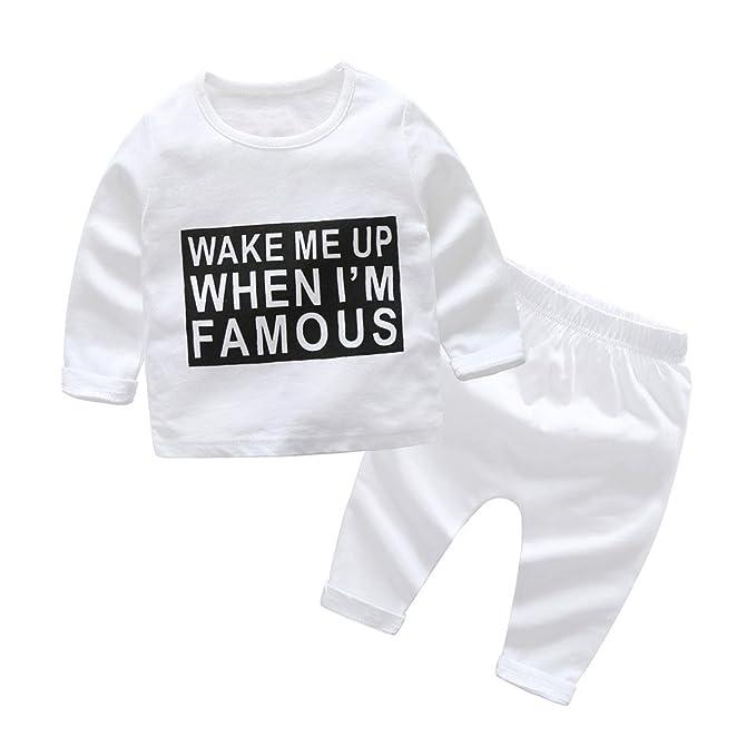 9e8e15417 AIMEE7 Ropa Bebe niño otoño Invierno Infantil Recien Nacido Bebé Niño Tapas  Manga Larga Camisetas Blusas + Pantalones Largos Conjuntos de Ropa Invierno:  ...