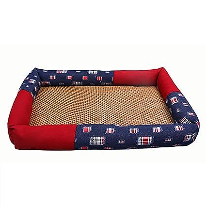 a4eaa25dc615 Suministros para perros Colchoneta de ratán transpirable de verano Colchón  fresco Colchón de cama para mascotas