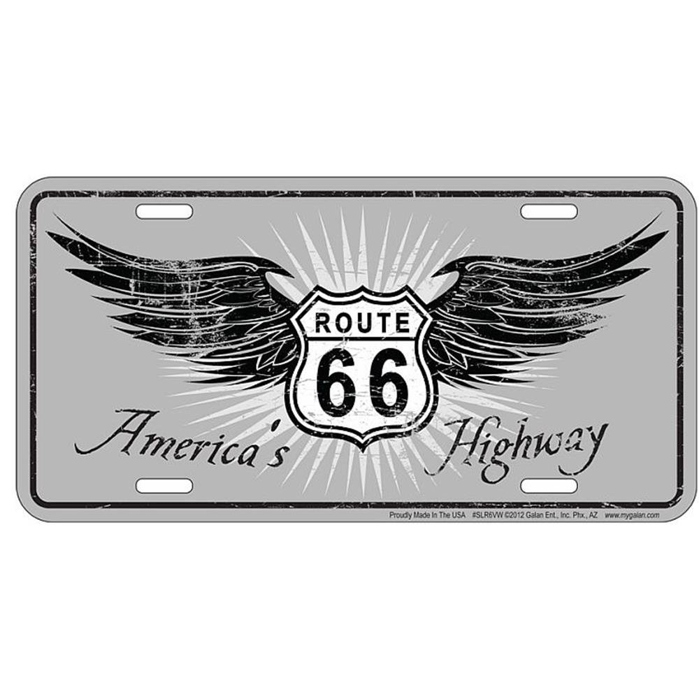 Signs 4 Fun SLR6WS 66 Americas Highway License Plate