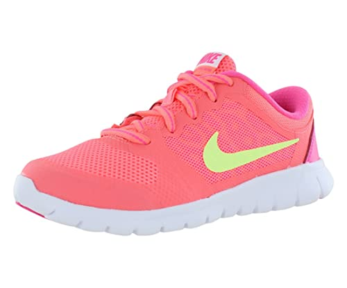 check out 7740f 48333 Amazon.com   Nike Girl s Flex Run 2015 Pre-School Running Shoe Lava  Glow Pink White Lime Size 3 M US   Running
