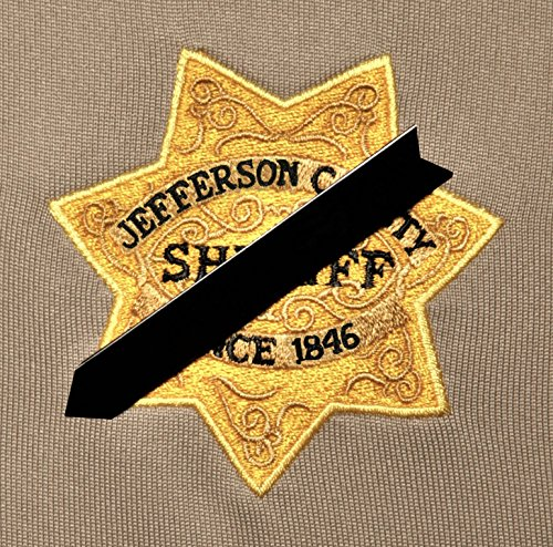 (Black Mourning Band Pin for Cloth Embroidered Badges to Honor Fallen Law Enforcement Police Sheriff)