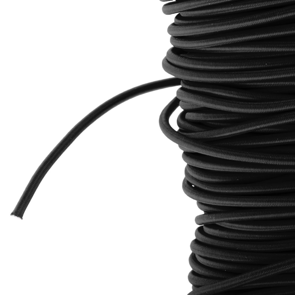 Homyl Cuerda Elasticá de Bungee de Accesorio de Bungee Deportes Al Aire Libre de Acampada - Negro, 50 m e90de9